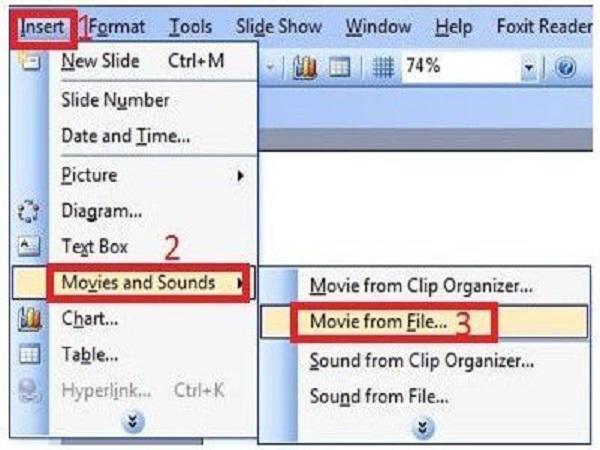 Hướng dẫn cách chèn video vào powerpoint 2003