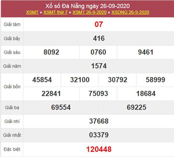 Dự đoán XSDNG 30/9/2020 chốt lô VIP Đà Nẵng thứ 4